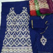 APPARESE BLUE ZARDOZI SUIT WITH DUPATTA