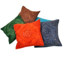 apparese mirror work cushion covers