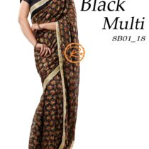 black phulkari saree on apparese