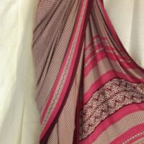 Apparese Maroon Chinon Saree